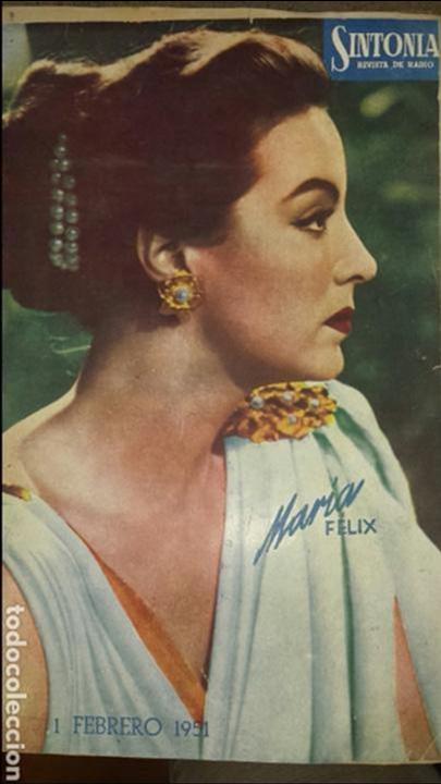 REVISTA DE RADIO SINTONIA - MARIA FELIX- AÑO V 1 FEBRERO 1951 N°89 (Radios, Gramófonos, Grabadoras y Otros - Catálogos, Publicidad y Libros de Radio)