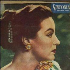 Radios antiguas: REVISTA DE RADIO SINTONIA - MARIA FELIX- AÑO V 1 FEBRERO 1951 N°89. Lote 76604029
