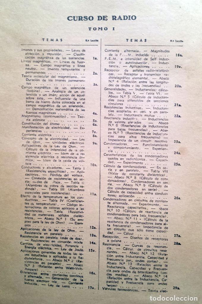 Radios antiguas: 48 Lecciones de Radio Tomo I - Editorial Hobby, impreso en Argentina 1950, ver índice - Foto 2 - 76820011