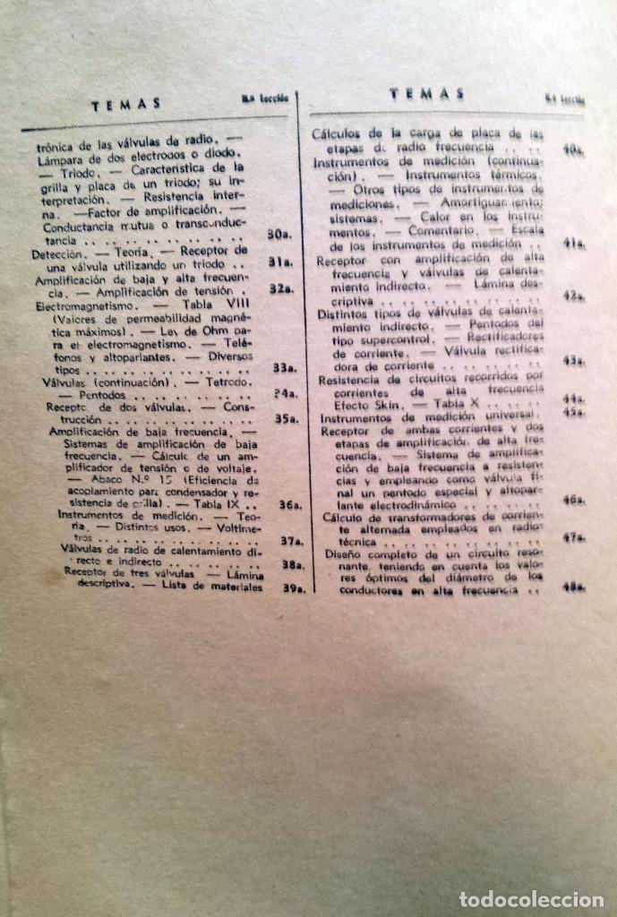 Radios antiguas: 48 Lecciones de Radio Tomo I - Editorial Hobby, impreso en Argentina 1950, ver índice - Foto 3 - 76820011