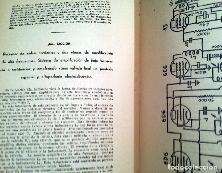 Radios antiguas: 48 Lecciones de Radio Tomo I - Editorial Hobby, impreso en Argentina 1950, ver índice - Foto 4 - 76820011
