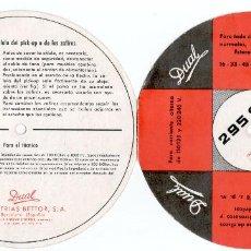 Radios antiguas: DUAL BETTOR TOCADISCOS. DÍPTICO, FOLLETO, INSTRUCCIONES CON FORMA DE SINGLE.. Lote 79119941