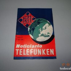 Radios antiguas: ANTIGUO REVISTA NOTICIARIO TELEFUNKEN Nº 45 DEL AÑO 1956. Lote 79174793