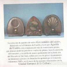 Radios antiguas: FOLLETO EXPOSICIÓN LOS SONIDOS DEL AYER, COLECCIÓN DE RADIOS AGUSTÍN DE CASTRO. Lote 79539609