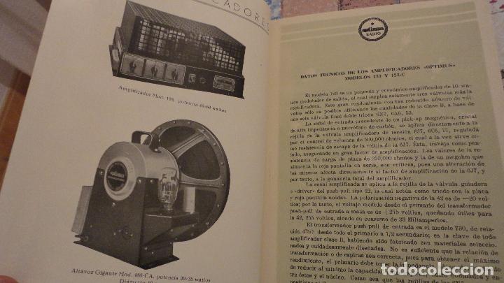 Radios antiguas: OPTIMUS RADIO.PLA HERMANOS Y Cia.GERONA.AMPLIFICADORES.ALTAVOCES.BOBINAS ETC.AÑOS 40 - Foto 7 - 79581893
