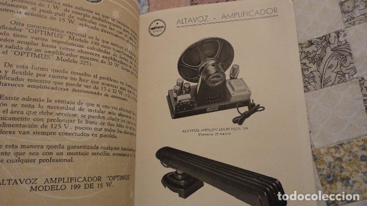Radios antiguas: OPTIMUS RADIO.PLA HERMANOS Y Cia.GERONA.AMPLIFICADORES.ALTAVOCES.BOBINAS ETC.AÑOS 40 - Foto 11 - 79581893