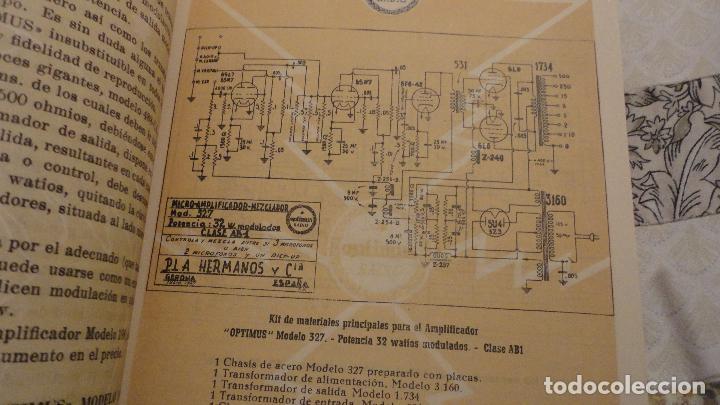 Radios antiguas: OPTIMUS RADIO.PLA HERMANOS Y Cia.GERONA.AMPLIFICADORES.ALTAVOCES.BOBINAS ETC.AÑOS 40 - Foto 12 - 79581893