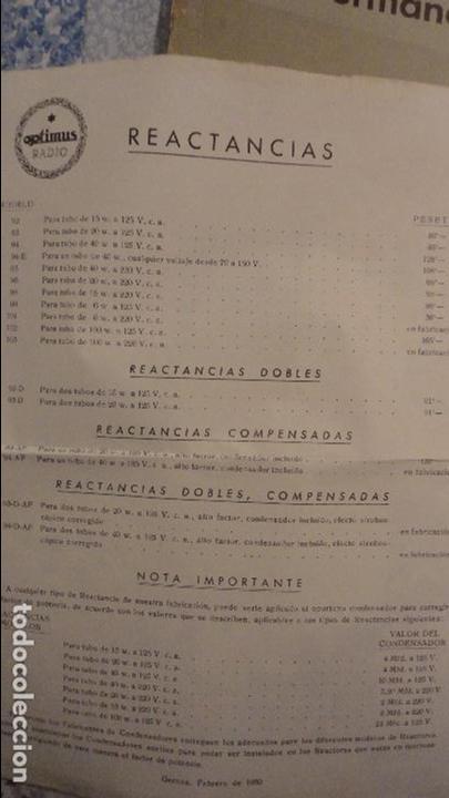 Radios antiguas: OPTIMUS RADIO.PLA HERMANOS Y Cia.GERONA.AMPLIFICADORES.ALTAVOCES.BOBINAS ETC.AÑOS 40 - Foto 20 - 79581893