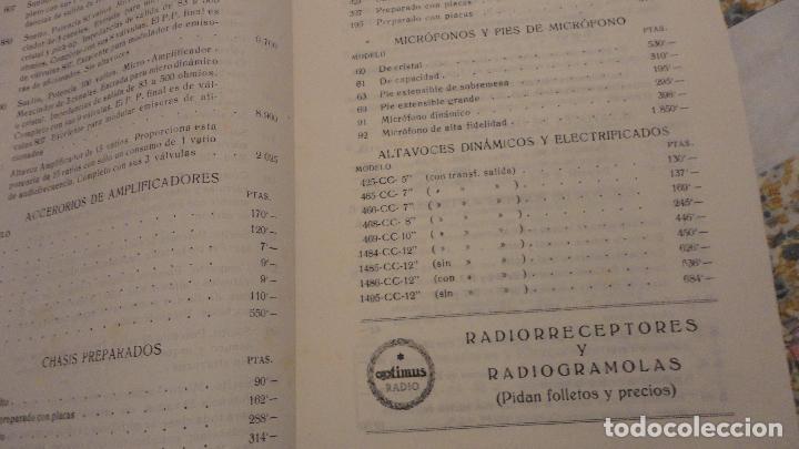 Radios antiguas: OPTIMUS RADIO.PLA HERMANOS Y Cia.GERONA.AMPLIFICADORES.ALTAVOCES.BOBINAS ETC.AÑOS 40 - Foto 22 - 79581893
