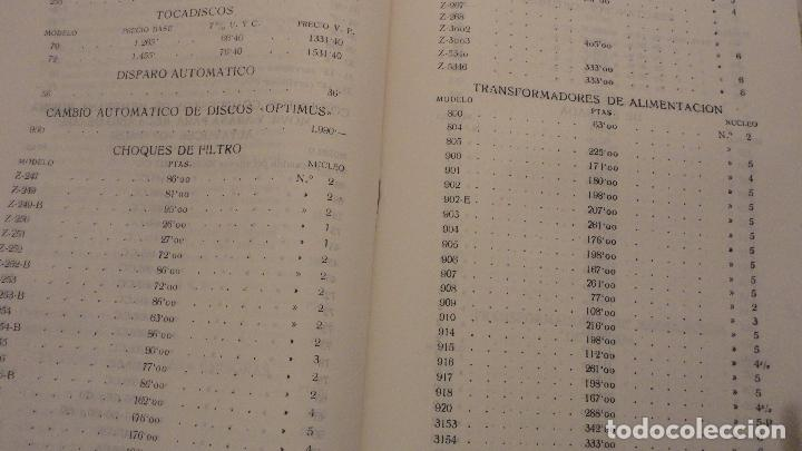 Radios antiguas: OPTIMUS RADIO.PLA HERMANOS Y Cia.GERONA.AMPLIFICADORES.ALTAVOCES.BOBINAS ETC.AÑOS 40 - Foto 23 - 79581893