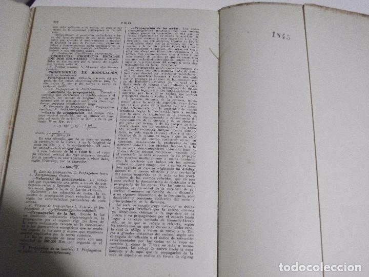 Radios antiguas: DICCIONARIO ENCICLOPEDICO DE RADIOELECTRICIDAD POR F. MAYMO GOMIS NUM 6 Y 7 - Foto 8 - 81013736