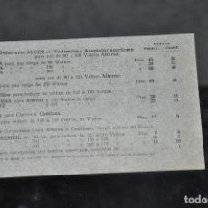 Radios antiguas: FOLLETO ANTIGUO DE ACCESORIOS DE RADIOS Y TOCADISCOS ALCER . Lote 81625852