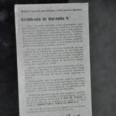 Radios antiguas: FOLLETO ANTIGUO DE AMERICAN TELE RADIO , BARCELONA , GARANTIA . Lote 81625980
