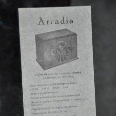 Radios antiguas: FOLLETO ANTIGUO DE RADIO ARCADIA MODELO 5B Y MODELO 5 A . Lote 81626164