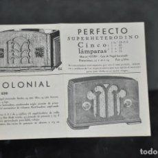 Radios antiguas: FOLLETO ANTIGUO DE RADIO SUPERTONE , DETROLA , ALL PURPOSE , WILCOX , DE WALD DINETTE , EMERSON . Lote 81626892