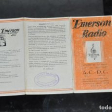 Radios antiguas: FOLLETO ANTIGUO DE RADIO EMERSON , MALAGA . Lote 81627616