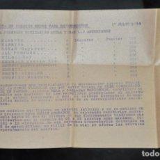 Radios antiguas: FOLLETO , NOTE DE PRECIOS DE RADIOS AÑO 1934 . Lote 81628268