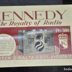 Radios antiguas: FOLLETO KENNEDY THE ROYALTY OF RADIO , DE MARTIN RIBALTA URPÍ , BARCELONA . Lote 81628416