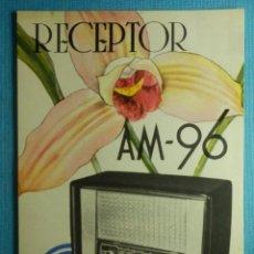 Radios antiguas: CATÁLOGO - PUBLICIDAD - CARACTERÍSTICAS TÉCNICAS APARATO DE RADIO - RECEPTOR MARCONI AM-96 -. Lote 83430884