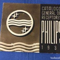 Radios antiguas: CATALOGO GENERAL DE RECEPTORES PHILIPS 1935. Lote 83434492