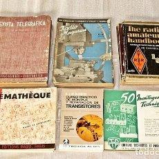 Radios antiguas: LOTE DE 33 REVISTAS Y 3 LIBROS ELECTRONICA AÑOS 40 Y 50. Lote 84159452
