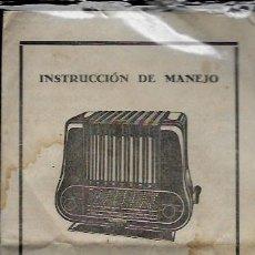 Radios antiguas: FOLLETO * RADIO TELEFUKEN BAHIA SUPER 1065 A-C* INSTRUCCIÓN DE MANEJO. Lote 84283456