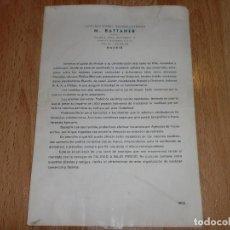 Radios antiguas: CATALOGO DE RADIOS DE CONSTRUCCIONES RADIOELECTRICAS M. BATTANER. Lote 84657140