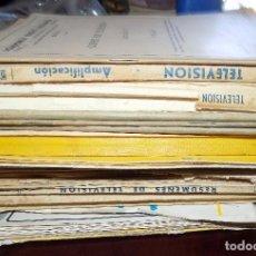 Radios antiguas: LOTE MATERIAL DE ESTUDIO, RADIO Y TELEVISION,AÑOS 60 70, MUY VARIADO, ESQUEMAS , UHF, ANTENAS, RADIO. Lote 85497596
