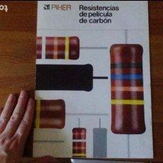 Radios antiguas: PIHER - RESISTENCIAS DE PELÍCULA DE CARBÓN. Lote 85680436