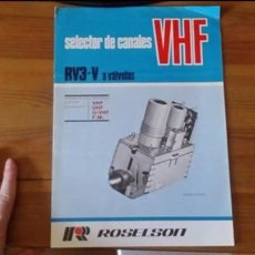 Radios antiguas: ROSELSON - SELECTOR DE CANALES VHF - RV3-V A VALVULAS . Lote 85680904