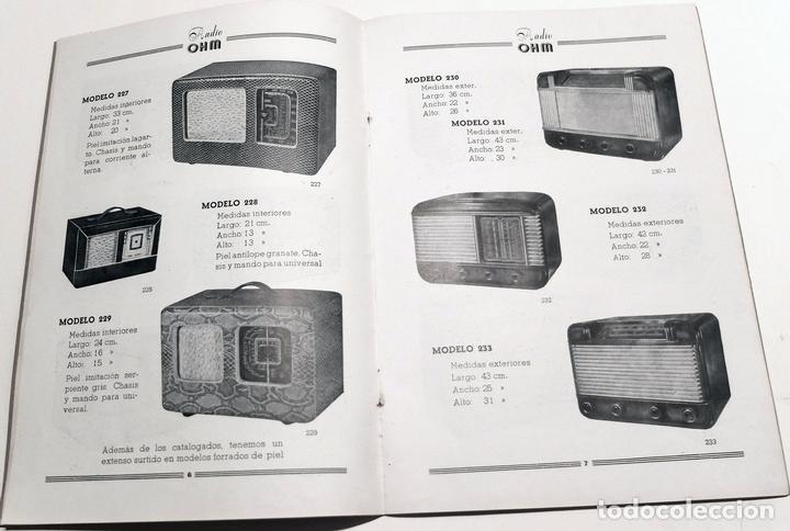 Radios antiguas: CATALOGO MUEBLES RADIO OHM BARCELONA AÑOS 1949-50. 22 PÁGINAS MÁS OTROS DOCUMENTOS - Foto 2 - 86763640