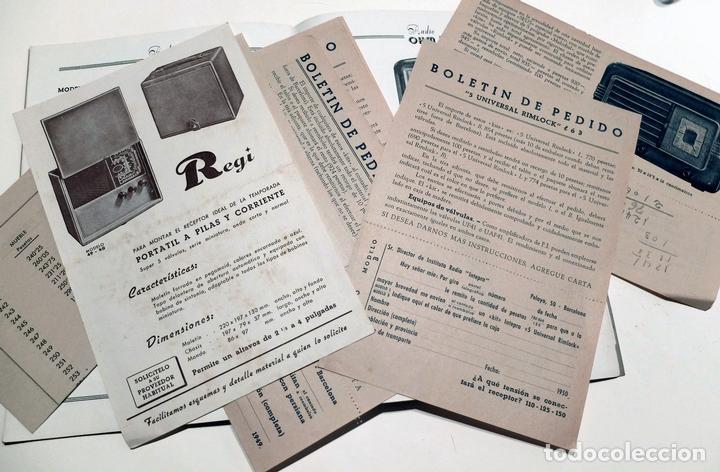 Radios antiguas: CATALOGO MUEBLES RADIO OHM BARCELONA AÑOS 1949-50. 22 PÁGINAS MÁS OTROS DOCUMENTOS - Foto 3 - 86763640