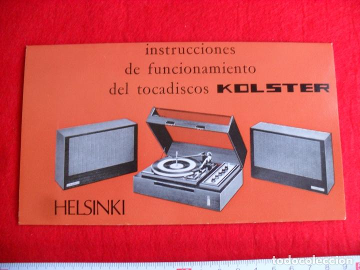 Radios antiguas: instrucciones tocadiscos kolster modelo helsinki - Foto 2 - 87602884