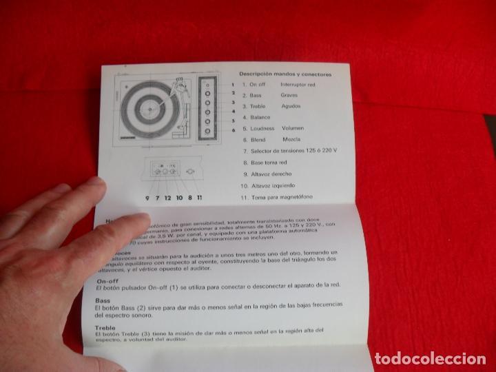 Radios antiguas: instrucciones tocadiscos kolster modelo helsinki - Foto 4 - 87602884
