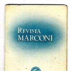 Radios antiguas: MARCONI ESPAÑOLA REVISTA EDITADA POR LA FABRICA AÑO VIII Nº 28 ENERO 1954 . Lote 88378280