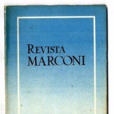 Radios antiguas: MARCONI ESPAÑOLA REVISTA EDITADA POR LA FABRICA AÑO IV Nº 12 ENERO 1950 . Lote 88380984
