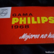 Radio antiche: CATALOGO GAMA PHILIPS AÑO 1968-FOTO DE FRANCO INAGURANDO INSTALACIONES. Lote 88972184