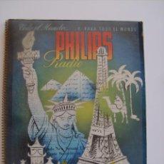 Radios antiguas: PRECIOSO CATÁLOGO DE RADIO PHILIPS 1954.. Lote 89190004