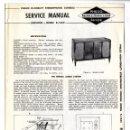 Radios antiguas: PHILCO - K-1632 SERVICE MANUAL HI-FIDELITY CONSOLE ORIGINAL BOOK. Lote 90514715