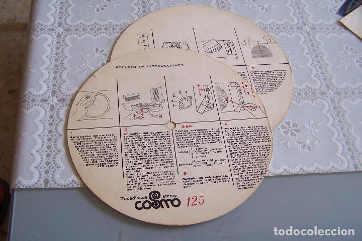 Radios antiguas: INSTRUCCIONES DE TOCADISCOS COSMO STEREO 125. DOS CARTONES CIRCULARES QUE IBAN A MODO DE DISCO. - Foto 2 - 91299790