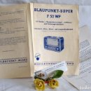 Radios antiguas: BLAUPUNKT-SUPER F 52 WP.- ANTIGUO FOLLETO PUBLICITARIO DE RADIO . Lote 91858360