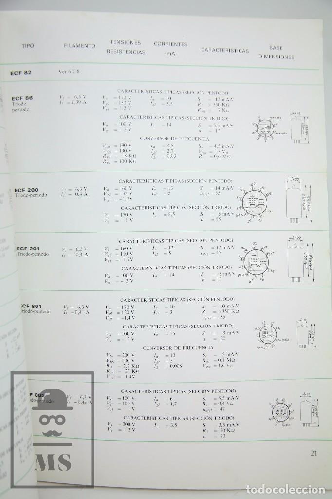 Radios antiguas: Publicación Sobre Válvulas Receptoras para Radio - Miniwatt - COPRESA, 1966 - Foto 7 - 94028485