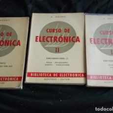 Radios antiguas: CURSO DE ELECTRONICA-RADIO-AÑO 1965- 250 PAGS CADA LIBRO. Lote 97562179