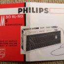 Radios antiguas: MANUAL TRANSISTOR PHILIPS AM 30 RL193 1969. Lote 97599384