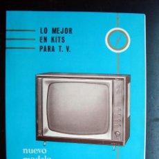Radios antiguas: ELECTRONICA, NUEVOS KIT PARA TELEVISION, TELEVISOR ESTUDIO 65 - RADIO BONVEHI, BARCELONA. Lote 99200703