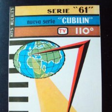 Rádios antigos: ELECTRONICA, FOLLETO TRIPTICO CATALOGO KIT MUEBLES PARA RADIO SERIE CUBILIN. Lote 99206903