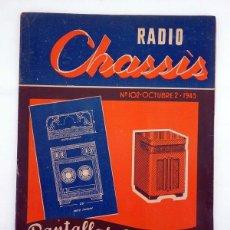Radios antiguas - REVISTA RADIO CHASSIS 102. PANTALLAS ACÚSTICAS, 1945. DIFÍCIL - 100066430