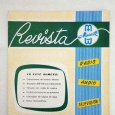 Radios antiguas - REVISTA MINIWATT VOL 1 N.º 2 RADIO AUDIO TELEVISIÓN INDUSTRIA, 1962 - 100123416