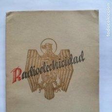 Radios antiguas: REVISTA ESPAÑOLA RADIOELECTRICIDAD - NUMERO 2 - JUNIO 1938 - (VER FOTOS). Lote 101131855