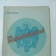 Radios antiguas: REVISTA ESPAÑOLA RADIOELECTRICIDAD Nº 7 - ABRIL 1939. Lote 101172067